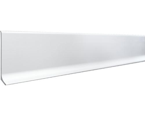 Hliníkový soklový profil 12x70x2500 mm, strieborný matný